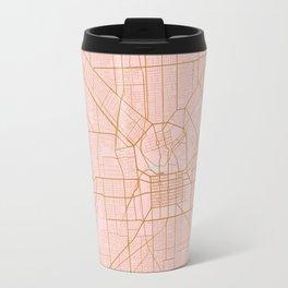 Pink and gold Adelaide map Travel Mug