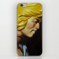 he man iPhone & iPod Skins featuring HE-MAN by John McGlynn