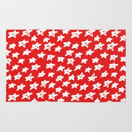 Stars on red background Rug