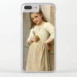 """William-Adolphe Bouguereau """"Yvonne on the doorstep"""" Clear iPhone Case"""