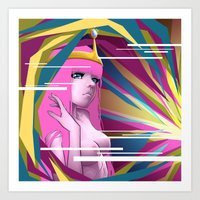 princess bubblegum Art Prints featuring Princess Bubblegum by Kimball Gray