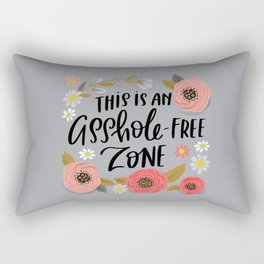 Pretty Swe*ry: This is an Asshole-free Zone Rectangular Pillow