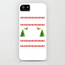 Unidentified Ice Hockey Champion Christmas Design For December 25th T-shirt Design Ice Rink Shaft iPhone Case