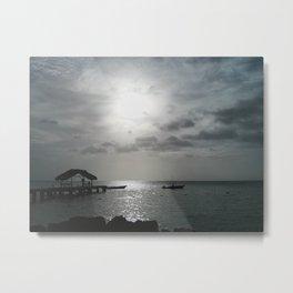 Pier at Pigeon Point, Trinidad and Tobago Metal Print