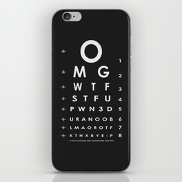 CHECK YOUR EYES iPhone Skin