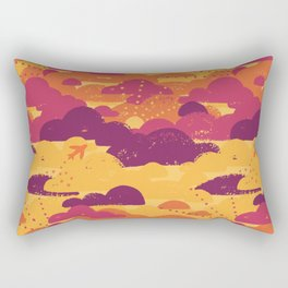 Jet Set Sunset Rectangular Pillow