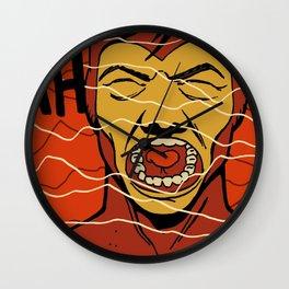Wavelength Scream Wall Clock