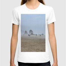 Misty Morning At Cannon Beach T-shirt