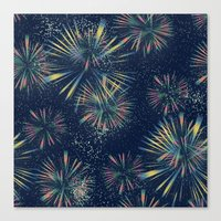 fireworks Canvas Prints featuring Fireworks! by LLL Creations