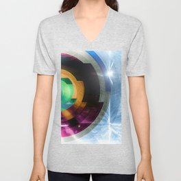 contacts Unisex V-Neck