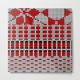 Pixel mosaic,red Metal Print