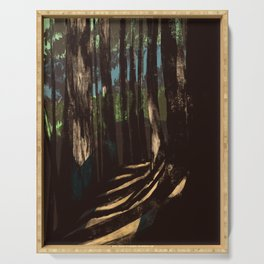 Path Through the Redwoods Serving Tray