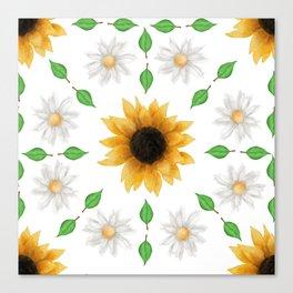 Flower Mandala - Pattern Canvas Print