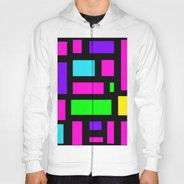 Multicoloured rectangle pattern Hoody