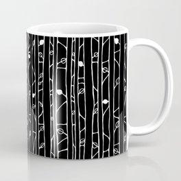 Into the Woods white on black Coffee Mug