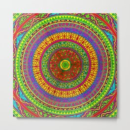 Mandala Pop Palace 2 Metal Print