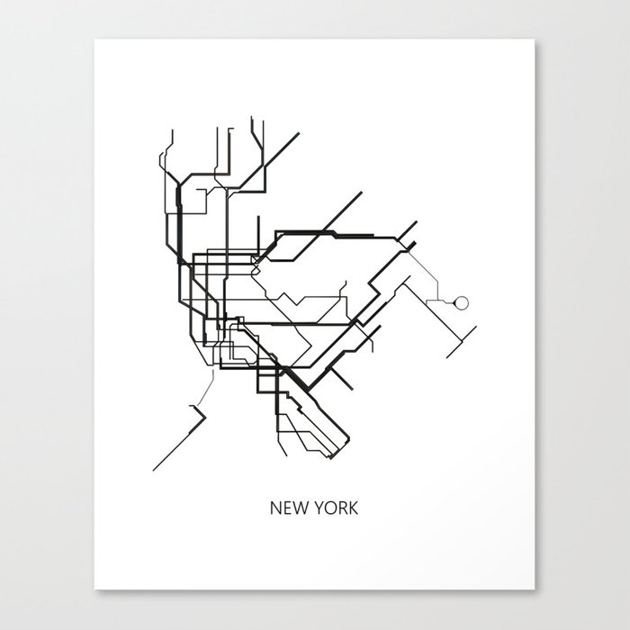 New York Subway Map To Print.New York Subway Map Print New York Metro Map Poster Subway Map Print Metro Map Poster Canvas Print By Nikolajovanovic