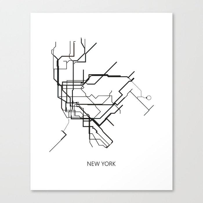 Subway Map New York For Print.New York Subway Map Print New York Metro Map Poster Subway Map Print Metro Map Poster Canvas Print By Nikolajovanovic