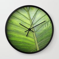 palm Wall Clocks featuring Palm by ALLY COXON