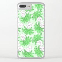 Fern-tastic Girls in Neon Green Clear iPhone Case