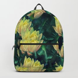 Yellow Lotus Flowers Backpack
