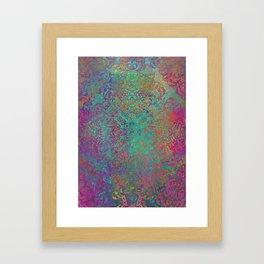 magic mandala 41 #magic #mandala #decor Framed Art Print