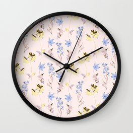 Romantic wild Flowers Wall Clock