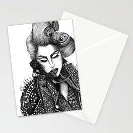 GIRL WITH A TELEPHONE Stationery Cards