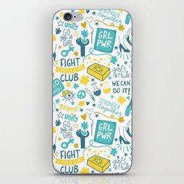 Fight like a girl sisterhood iPhone Skin
