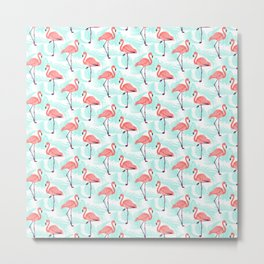 Flamingo Pattern 1 Metal Print