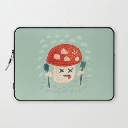 Funny Cartoon Poisoned Mushroom Laptop Sleeve
