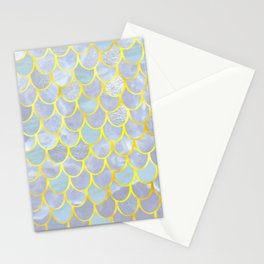 opalescent mermaid Stationery Cards