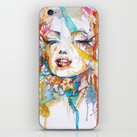 marylin monroe iPhone & iPod Skins featuring Marylin Monroe by Maria Zborovska