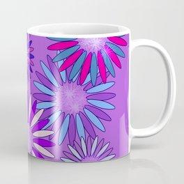 Ultra Violet Floral Poetry Coffee Mug