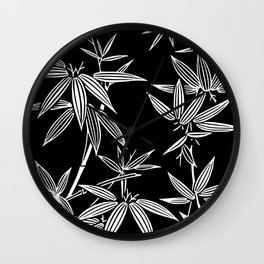 White Bamboo Wall Clock