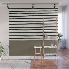 Cappuccino x Stripes Wall Mural