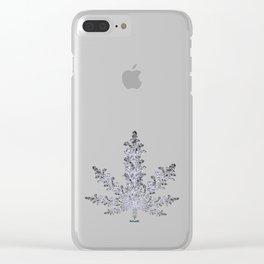 Cannabis Snow Flake Clear iPhone Case
