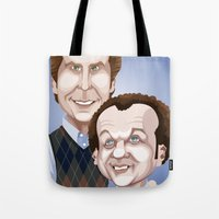 will ferrell Tote Bags featuring Step Brothers by Leo Maia