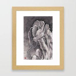 cloud dragon Framed Art Print