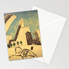 Chicago Skyline (The Bean) Stationery Cards