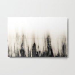 Trees By the Sea Abstract Metal Print