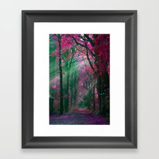 pink forest Framed Art Print