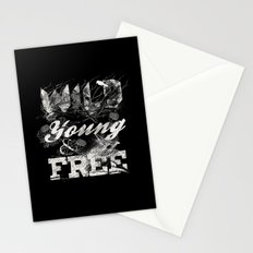 WILD YOUNG AND FREE Stationery Cards