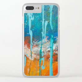 Tear Drops Clear iPhone Case