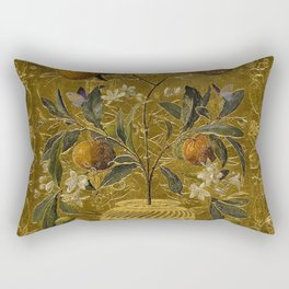1880 Classical Masterpiece 'The Orange Tree' by William Jabez Muckley Rectangular Pillow