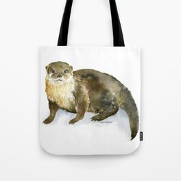River Otter Watercolor Tote Bag