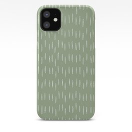 Raindrop Boho Abstract Pattern, Sage Green iPhone Case