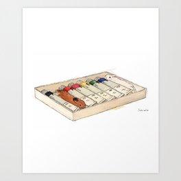 Bunny-colored paint Art Print