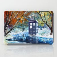 fandom iPad Cases featuring Starry Winter blue phone box Digital Art iPhone 4 4s 5 5c 6, pillow case, mugs and tshirt by Three Second