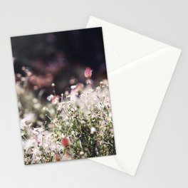 Pink and White Flowers Stationery Cards